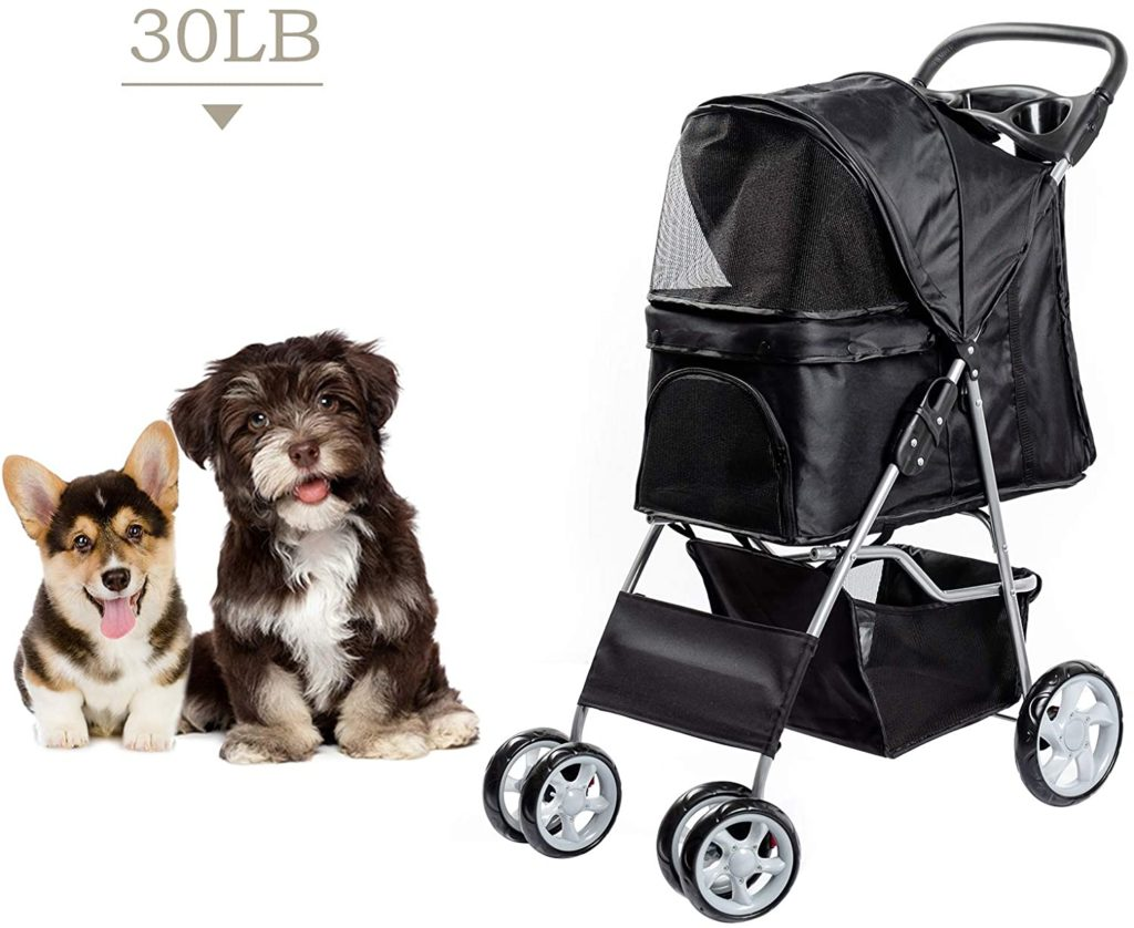 chariot Dawoo pour animaux de compagnie
